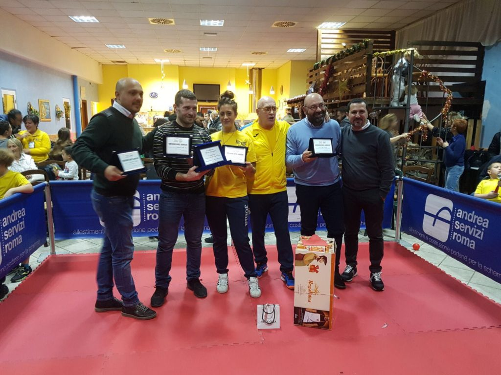 premiazione dicembre 2017 campione italiano Emanuele Della Rosa