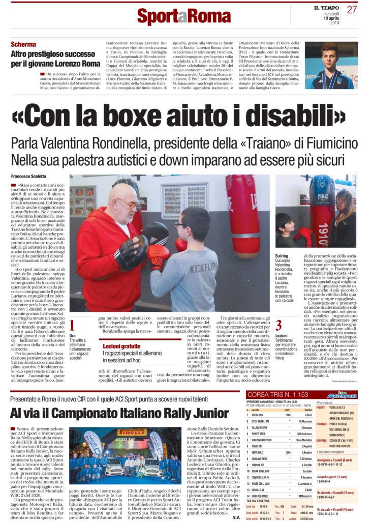"""""""Con la boxe aiuto i disabili"""""""